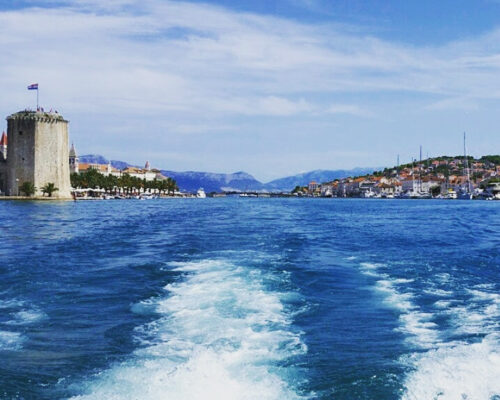 Trogir from the seaside